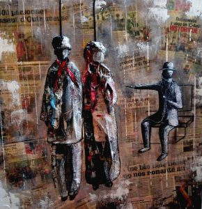 Les marionnettes liégeoises - 90 x 90 cm