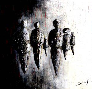 Complot 2 - Série Complots - 50 x 50 cm