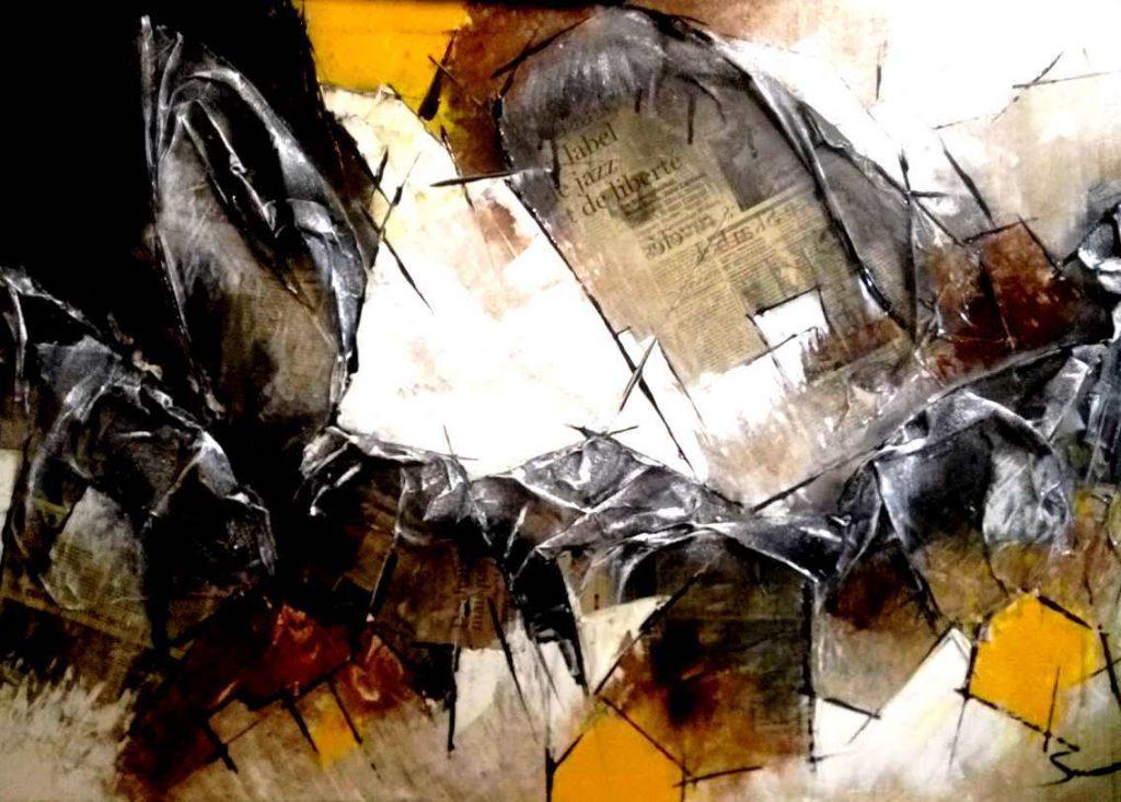 Ciel et terre 1 - 120 x 80 cm - Série Ciel et Terre